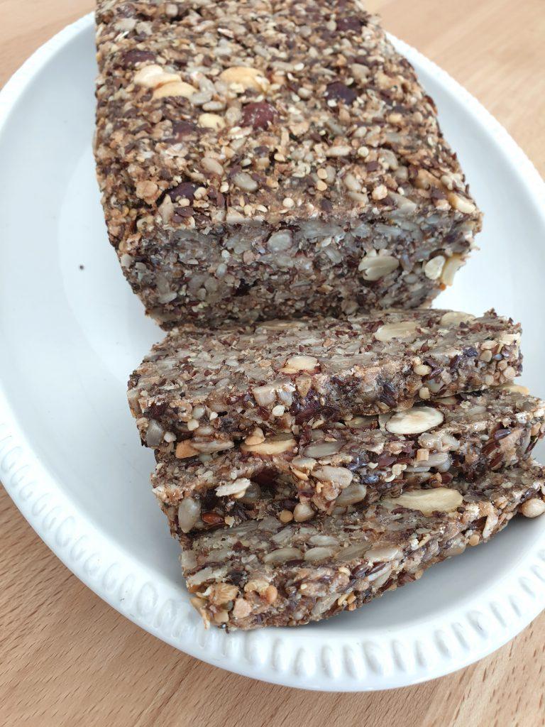 Life changing Bread, Leinsamen, Chiasamen, Brot, glutenfrei, vegan